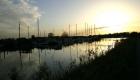 Sonnenuntergang am Vareler Hafen