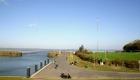 Dangaster Hafen bei strahlendem Sonnenschein im Herbst