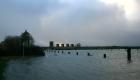 Sturmflut am Dangaster Hafen
